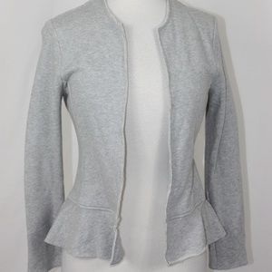 Antropologie Dolan Peplum Sweatshirt Jacket XS